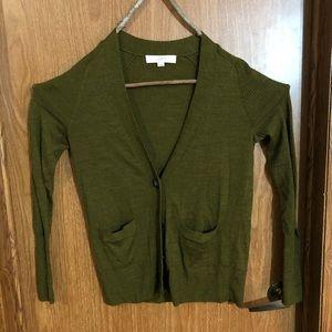 Forest green sweater Mori cardigan Strega boho